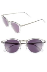 Smoke X Mirrors Men's Shout 49Mm Retro Sunglasses Crystal Brushed Silver Grey Crystal Brushed Silver Grey