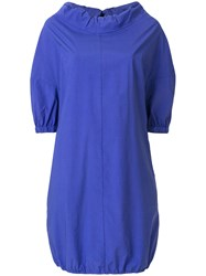 Hache Short Sleeve Shift Dress Pink And Purple