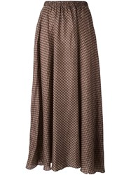 Mes Demoiselles Patterned Maxi Skirt Brown