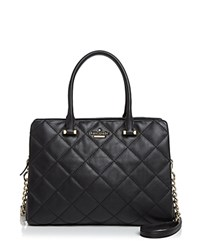 Kate Spade New York Emerson Place Olivera Quilted Leather Satchel Black Gold
