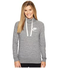 Nike Sportswear Pullover Hoodie Carbon Heather Sail Women's Sweatshirt Gray