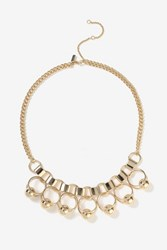 Topshop Chain Link And Drop Statement Necklace Gold