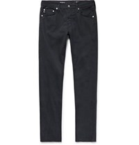 Ag Jeans Stockton Skinny Fit Brushed Stretch Cotton Trousers Midnight Blue