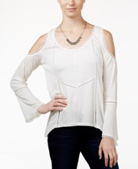 American Rag Cold Shoulder Peasant Top Only At Macy's Off White