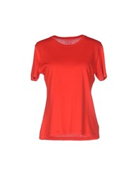 Fedeli T Shirts Red