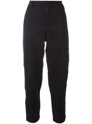 Transit Straight Trousers Black
