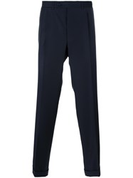Canali Straight Leg Trousers Blue