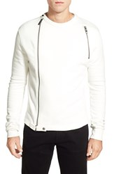 Men's Bogosse 'Adonis' Long Sleeve Front Zip Crewneck Sweater