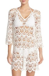 Women's Surf Gypsy Crochet Cover Up Tunic