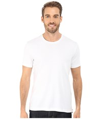 Kenneth Cole Sportswear Short Sleeve Rib Crew W Zipper White Men's T Shirt