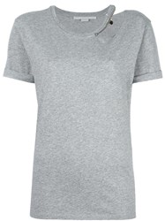 Stella Mccartney Falabella Cut Out Detail Top Grey