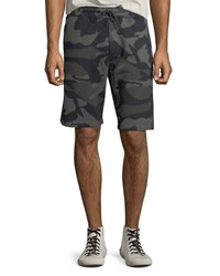 Wesc Marty Camo Shorts W Drawstring Grey Woodland