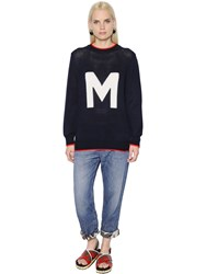 Marni M Intarsia Cotton Knit Sweater
