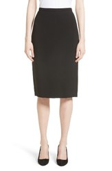Max Mara Women's Bugia Stretch Wool Skirt Black