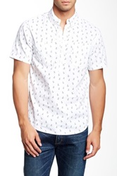Barque European Fit Anchor Print Pullover Shirt White