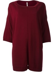 Antonio Marras Central Slit Jumper Red
