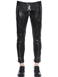Dsquared2 Patchwork Nappa Leather Biker Pants