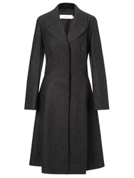 John Lewis Sienna Fit And Flare Textured Coat Grey
