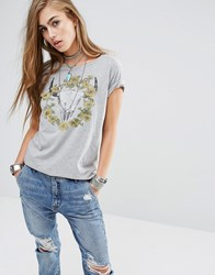 Denim And Supply Ralph Lauren By Daisy Rams Head T Shirt Grey