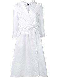 Jil Sander Navy Woven Shirt Dress White