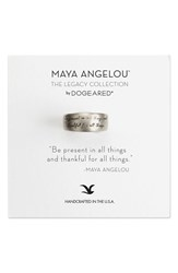 Dogeared Women's Dogered 'Legacy Colelction Be Present' Ring Silver