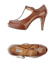 Fratelli Rossetti Pumps With Open Toe Brown
