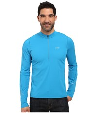 Arc'teryx Accelerator Long Sleeve Zip Neck Adriatic Blue Men's Clothing