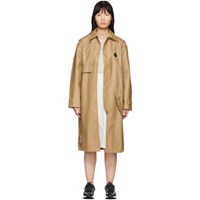 A Cold Wall Beige Design Lined Mac Trench Coat