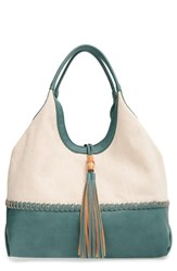 Big Buddha Faux Leather Tassel Hobo Bag Blue Green Teal