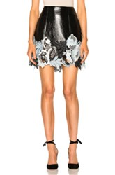 3.1 Phillip Lim Vinyl Lace Skirt In Black Blue White Black Blue White