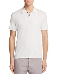 Theory Goris Slim Fit Knitted Polo White