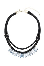 Topshop Sparkle Bead And Cord Necklace Clear