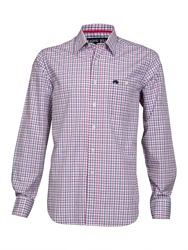 Raging Bull Big And Tall Fine Check Long Sleeve Shirt Navy And Pink