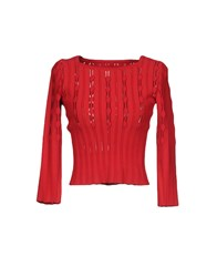 Alaia Sweaters Red
