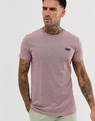 Superdry Orange Label Embroidered Logo T Shirt In Red