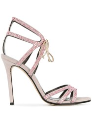 Marc Ellis Embellished Open Toe Sandals Pink And Purple