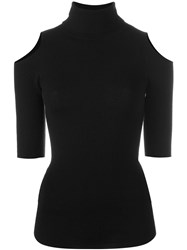 Zoe Jordan Cut Out Shoulder Jumper Black
