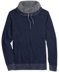 American Rag Men's Honeycomb Funnel Neck Sweater Only At Macy's Basic Navy