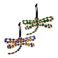 Amara Set Of 2 Dragonfly Tree Decorations