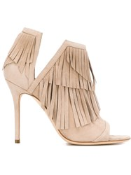 Aperlai Aperlai 'Marion' Fringed Sandals Nude And Neutrals