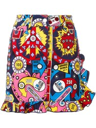 Love Moschino Multi Print Straight Skirt