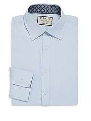 Thomas Pink Classic Fit Solid Dress Shirt Blue Navy