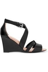 Tod's Leather Wedge Sandals Black