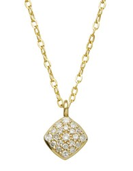 Lord And Taylor Diamond 14K Yellow Gold Pendant Necklace