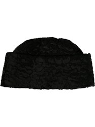 T By Alexander Wang Astrakhan Effect Cossack Hat Black