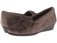 Minnetonka Kilty Wedge Grey Women's Shoes Gray