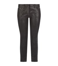 Faith Connexion Waxed Skinny Jeans Female Black