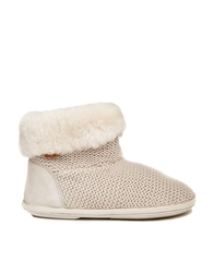 Just Sheepskin Cavendish Fold Over Bootie Slippers