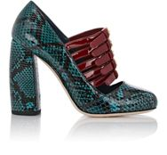 Miu Miu Bi Color Multi Strap Mary Jane Pumps Green