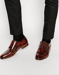 H By Hudson Mansfield Derby Brogue Shoes Brown